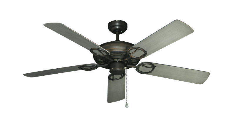 "Trinidad Oil Rubbed Bronze with 52"" Outdoor Brushed Nickel BN-1 Blades"