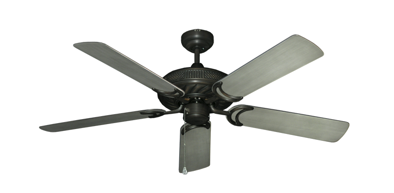 """Atlantis Oil Rubbed Bronze with 52"""" Outdoor Brushed Nickel BN-1 Blades"""