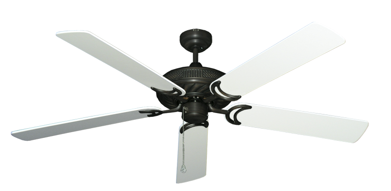 """Picture of Atlantis Oil Rubbed Bronze with 60"""" Pure White Blades"""