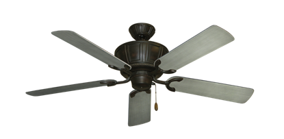 """Centurion Oil Rubbed Bronze with 52"""" Outdoor Brushed Nickel BN-1 Blades"""