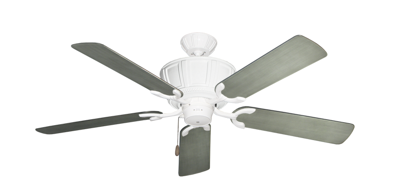 """Picture of Centurion Pure White with 52"""" Outdoor Brushed Nickel BN-1 Blades"""
