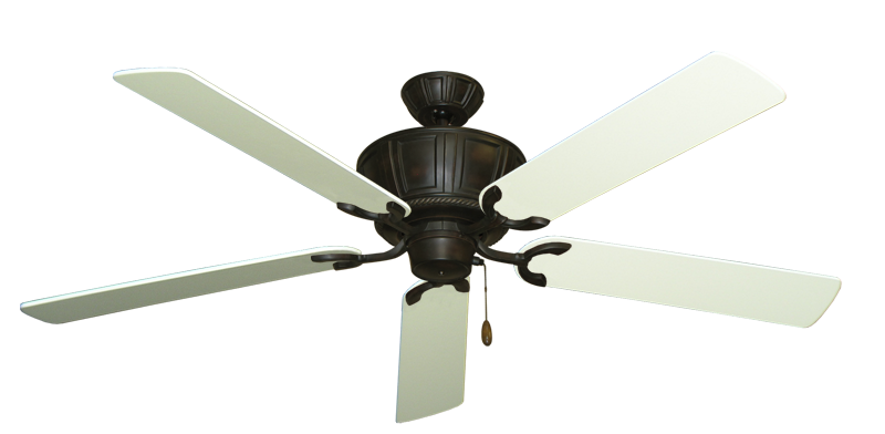 """Centurion Oil Rubbed Bronze with 60"""" Antique White Blades"""