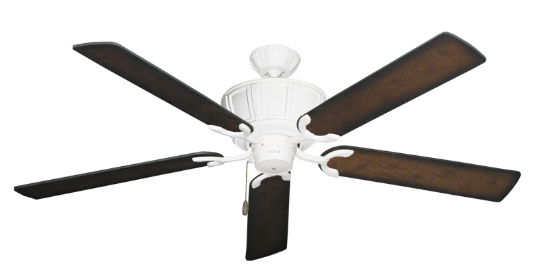 """Centurion Pure White with 60"""" Distressed Hickory Blades"""