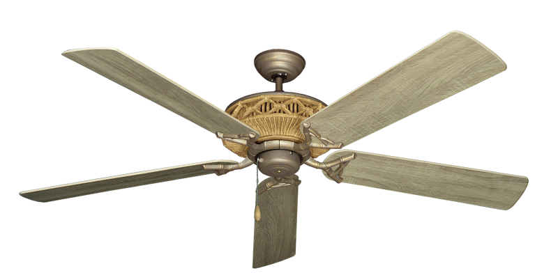 """Picture of Tiki Antique Bronze with 60"""" Beachwood Blades"""