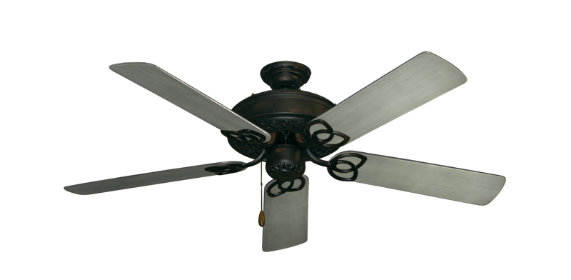 """Picture of Renaissance Oil Rubbed Bronze with 52"""" Outdoor Brushed Nickel BN-1 Blades"""