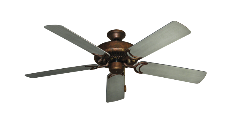"""Picture of Riviera Burnished Copper with 52"""" Outdoor Brushed Nickel BN-1 Blades"""
