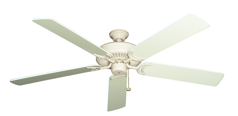 """Picture of Riviera Antique White with 60"""" Antique White Blades"""