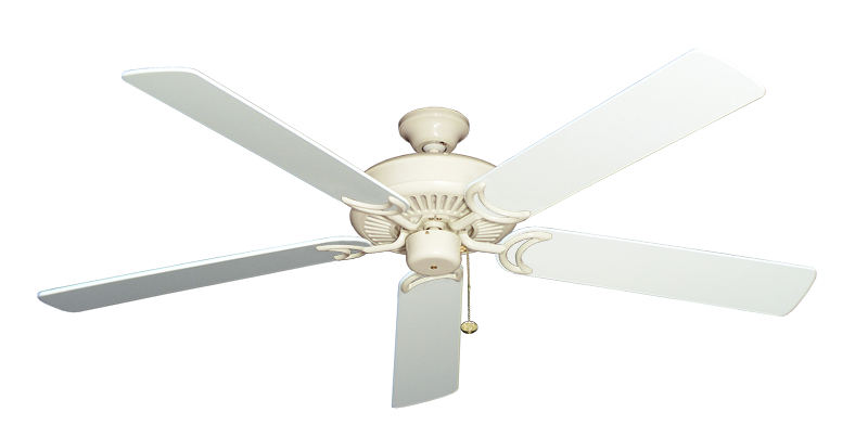 """Picture of Riviera Antique White with 60"""" Pure White Blades"""
