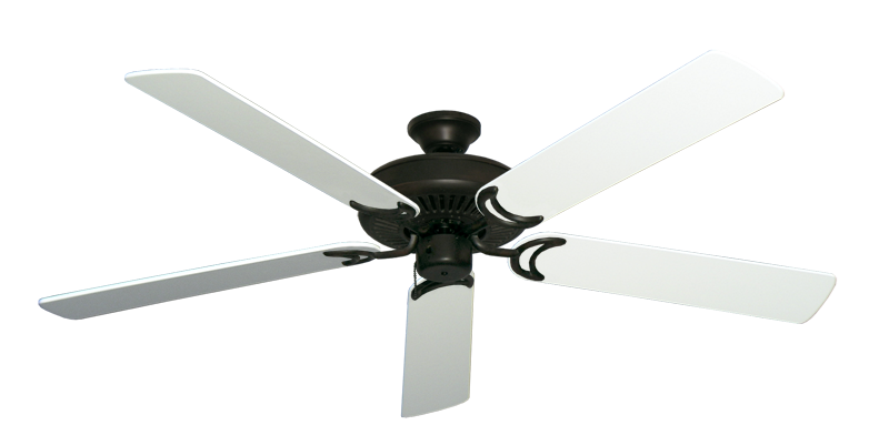 "Picture of Riviera Oil Rubbed Bronze with 60"" Pure White Blades"