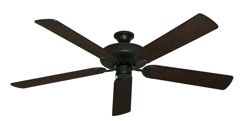 """Picture of Riviera Oil Rubbed Bronze with 60"""" Distressed Walnut Blades"""