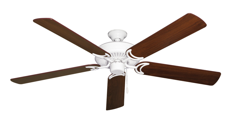 """Picture of Riviera Pure White with 60"""" Walnut Blades"""