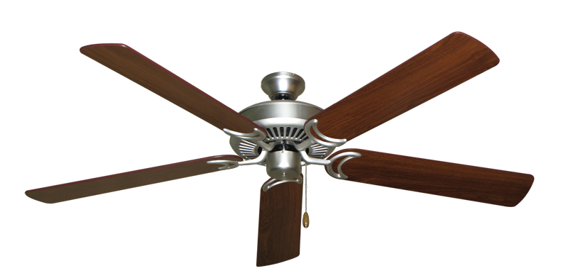 """Picture of Riviera Satin Steel with 60"""" Walnut Blades"""