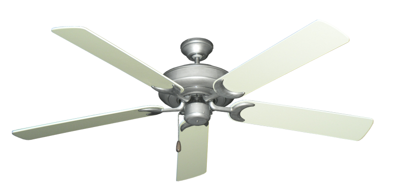 "Picture of Raindance Brushed Nickel BN-1 with 60"" Antique White Blades"