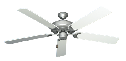 """Picture of Raindance Brushed Nickel BN-1 with 60"""" Pure White Blades"""