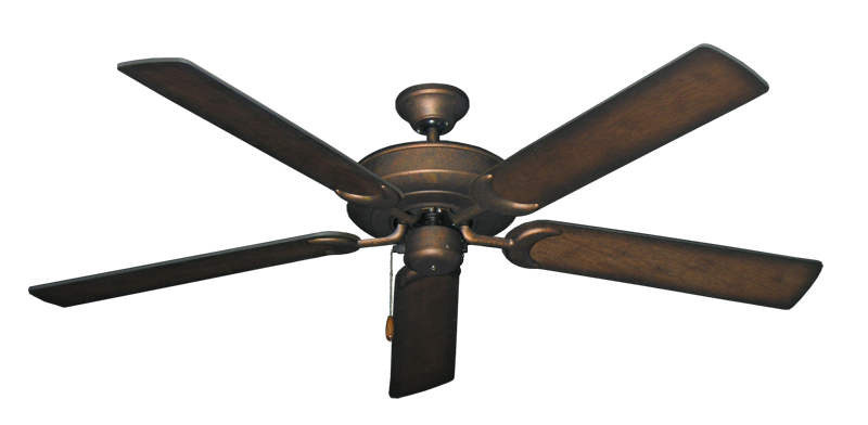 """Picture of Raindance Burnished Copper with 60"""" Distressed Hickory Blades"""