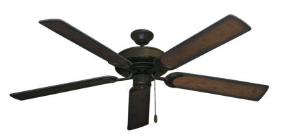 """Picture of Raindance Oil Rubbed Bronze with 60"""" Distressed Hickory Blades"""