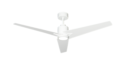 "Reveal 52"" WiFi Enabled Indoor/Outdoor Modern Ceiling Fan in Pure White with Remote and LED Light"