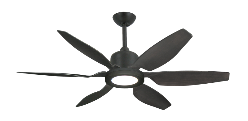 "Picture of Titan II Oil Rubbed Bronze with 52"" Resin Oil Rubbed Bronze Blades with 18W LED Array Light and Remote"