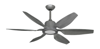 "Titan II Brushed Nickel with 52"" Resin Brushed Nickel Blades with 18W LED Array Light and Remote"
