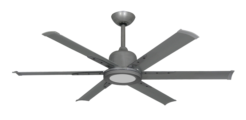 """Titan II Brushed Nickel with 52"""" Aluminum Brushed Nickel Blades with 18W LED Array Light and Remote"""