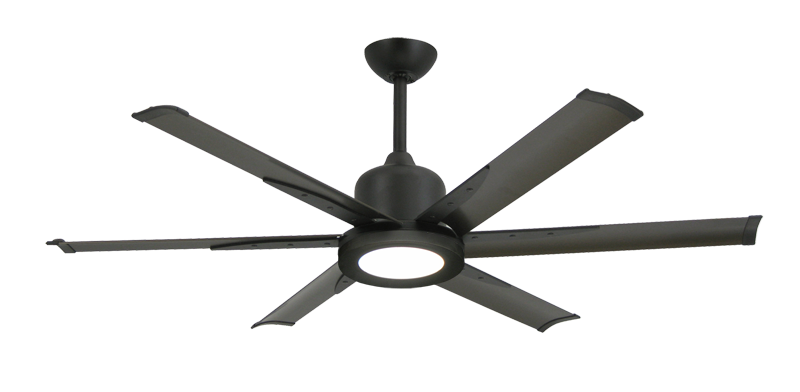 "Picture of Titan II Oil Rubbed Bronze with 52"" Aluminum Oil Rubbed Bronze Blades with 18W LED Array Light and Remote"