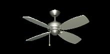 """42"""" Mini Breeze Ceiling Fan in Satin Steel"""