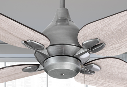 "Picture of Reno 50"" Indoor Contemporary Brushed Nickel Ceiling Fan"