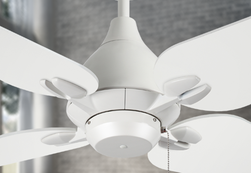 "Picture of Reno 50"" Indoor Contemporary Pure White Ceiling Fan"
