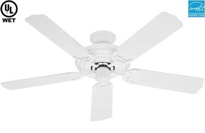 "Hunter  52"" Sea Air  White Outdoor Ceiling Fan, Model 53054"