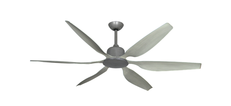 """Titan II Brushed Nickel with 66"""" Resin Stone Blades with Remote"""