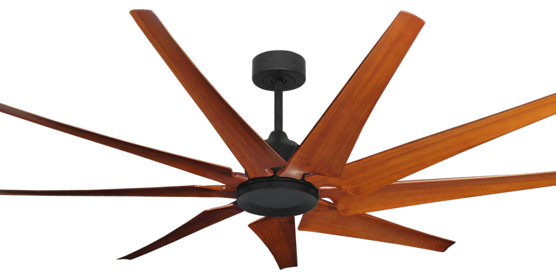 Liberator 72 in. WiFi Enabled Indoor/Outdoor Oil Rubbed Bronze Ceiling Fan With Natural Cherry Blades