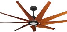 Liberator 72 in. WiFi Enabled Indoor/Outdoor Oil Rubbed Bronze Ceiling Fan With Natural Cherry Blades and 18W LED Array Light