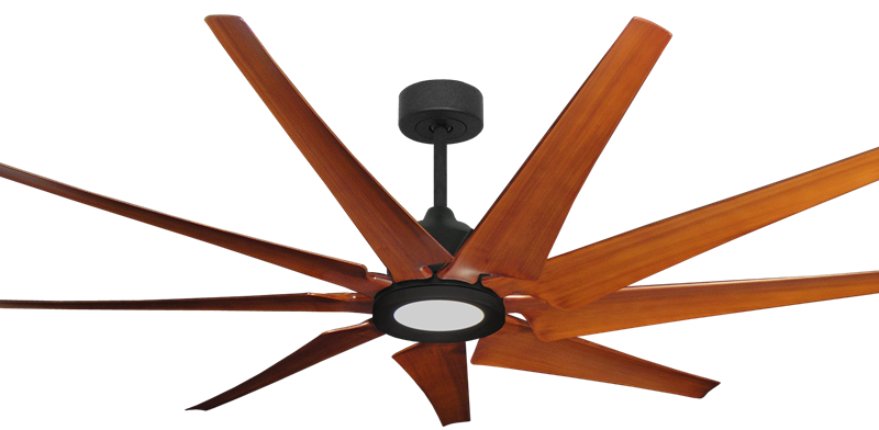 Picture of Liberator 72 in. WiFi Enabled Indoor/Outdoor Oil Rubbed Bronze Ceiling Fan With Natural Cherry Blades and 18W LED Array Light