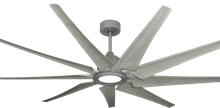 Liberator 72 in. WiFi Enabled Indoor/Outdoor Brushed Nickel Ceiling Fan With Stone Blades and 18W LED Array Light
