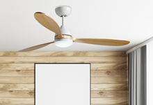 """Koho 52"""" Indoor Contemporary Pure White Ceiling Fan with LED Light and Remote"""