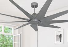 Liberator 72 in. WiFi Enabled Indoor/Outdoor Brushed Nickel Ceiling Fan
