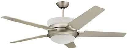 Sunrise 5-blade satin steel uplight ceiling fan