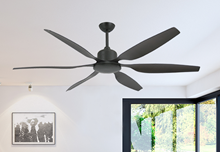 """Titan II Oil Rubbed Bronze with 66"""" Resin Oil Rubbed Bronze Blades with Remote"""
