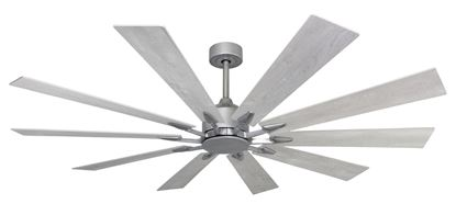 """Picture of Fusion WiFi Enabled Brushed Nickel Ceiling Fan with 66"""" Blades and Remote"""