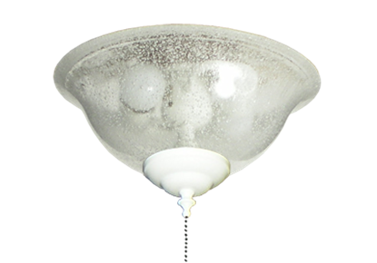 Picture of 133 Glass Bowl Light in Seeded Glass