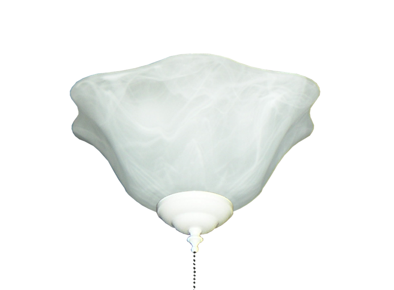 Picture of 140 Scalloped Glass Bowl Light in White Scavo