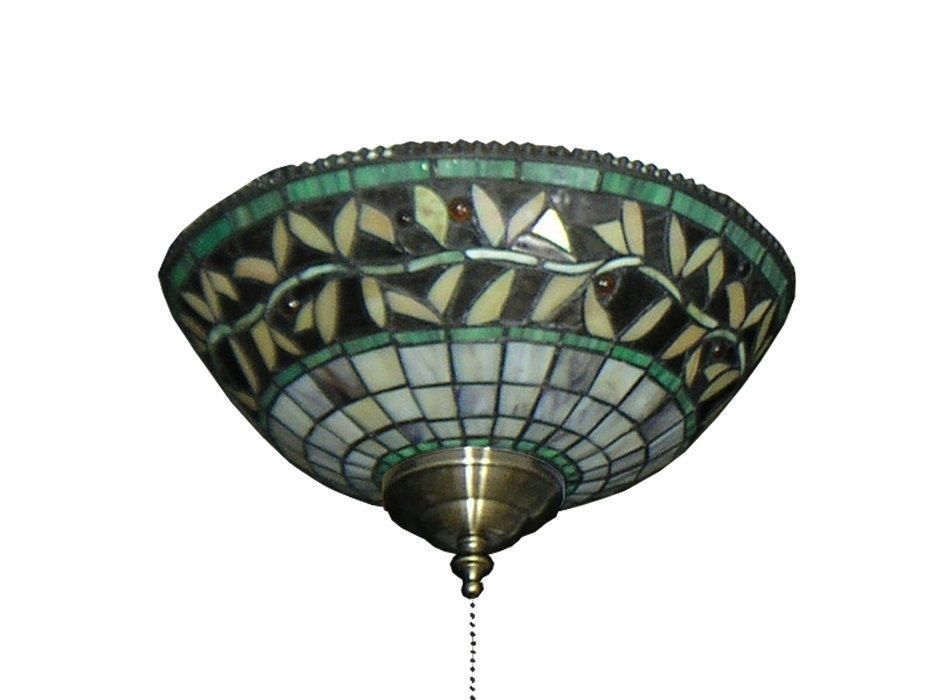 Ceiling fan green vine tiffany glass bowl light 193 dans fan picture of 193 green vine tiffany glass specialty bowl light mozeypictures Gallery