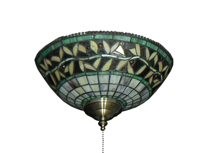 Picture of 193 Green Vine Tiffany Glass Specialty Bowl Light