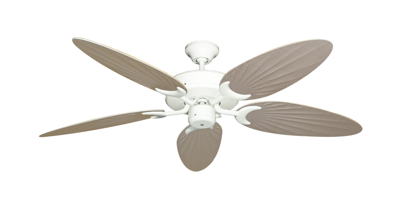Patio Fan Ceiling Fan In Pure White With 52 Quot Outdoor Palm