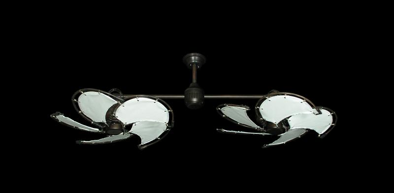 Twin Star Iii Ceiling Fan In Oil Rubbed Bronze With 30
