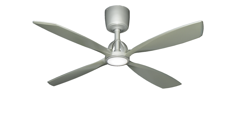 Ninja 56 In Brushed Nickel Ceiling Fan With Led Light