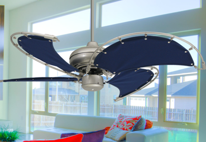 Raindance Ceiling Fan In Brushed Nickel With 52 Quot Nautical
